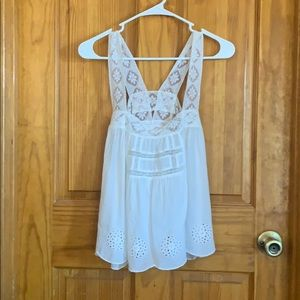 NWT Free People Ivory lace tank top. Xsmall